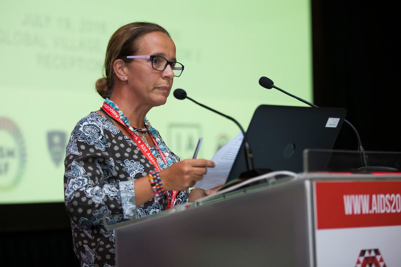 21st International AIDS Conference (AIDS 2016), Durban, South Africa. The Robert Carr Research Award and Lecture (TUCA14) Mary Ann Torres, 19 July, 2016. Photo©International AIDS Society/Rogan Ward