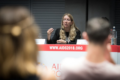 22nd International AIDS Conference (AIDS 2018) Amsterdam, Netherlands   Copyright: Marcus Rose/IAS  Photo shows: #HeForShe town-hall. Uluna Suprun