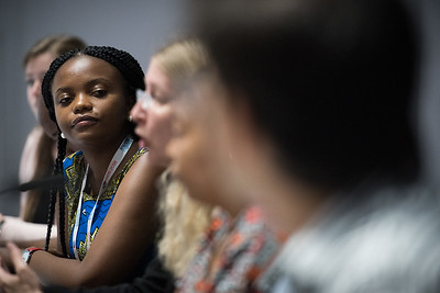 22nd International AIDS Conference (AIDS 2018) Amsterdam, Netherlands   Copyright: Marcus Rose/IAS  Photo shows: #HeForShe town-hall. Clarissa Regede