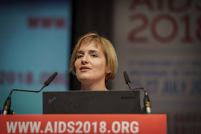 22nd International AIDS Conference (AIDS 2018) Amsterdam, Netherlands.   Copyright: Matthijs Immink/IAS  PLENARY Breaking barriers of inequity in the HIV response  Photo shows: Anna Derbayinna