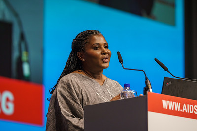 22nd International AIDS Conference (AIDS 2018) Amsterdam, Netherlands.   Copyright: Matthijs Immink/IAS  PLENARY Breaking barriers of inequity in the HIV response  Photo shows: Monica Geingos