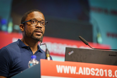 22nd International AIDS Conference (AIDS 2018) Amsterdam, Netherlands.   Copyright: Matthijs Immink/IAS  PLENARY Breaking barriers of inequity in the HIV response  Photo shows: Robert Suttle