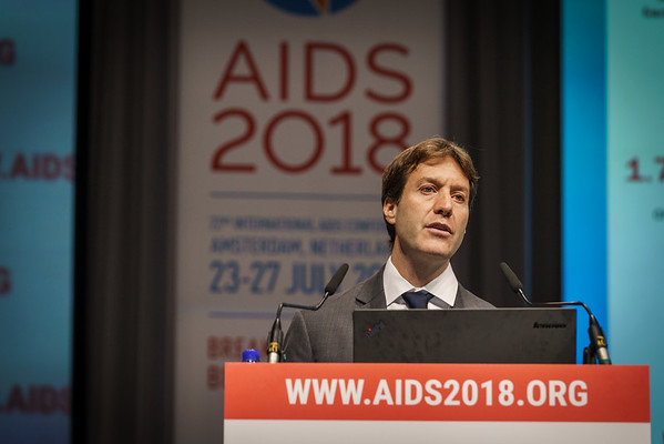 22nd International AIDS Conference (AIDS 2018) Amsterdam, Netherlands.   Copyright: Matthijs Immink/IAS  PLENARY Breaking barriers of inequity in the HIV response  Photo shows: Stefan Baral