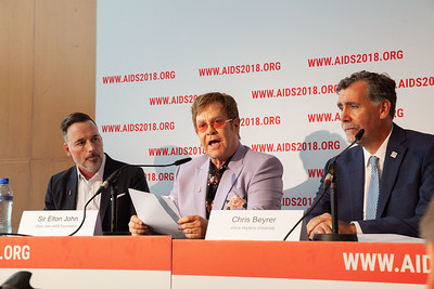 The Netherlands, Amsterdam, 24-7-2018.  Pressconference Eastern Europe and Central Asia with Elton John Aids Foundation receiving a 1 million euro donation of The Netherlands. Photo: Rob Huibers for AIS.  (Please publish always with complete attribution).