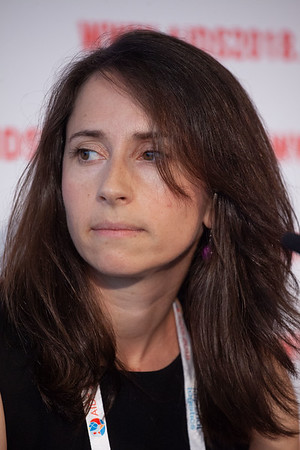 The Netherlands, Amsterdam, 24-7-2018.  Press Conference HIV Prevention Highlights Research.  Rebecca Zash. Photo: Rob Huibers for IAS.  (Please publish always with complete attribution).