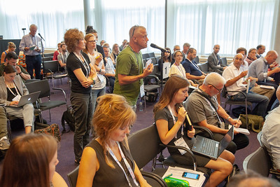 The Netherlands, Amsterdam, 24-7-2018.  Press Conference HIV Prevention Highlights Research.  L-R Linda-Gail Bekker, Pedro Cahn, Rebecca Zash, Sarah Fidler, Mariana Veloso Meireles, Sharon Lewin Photo: Rob Huibers for IAS.  (Please publish always with complete attribution).