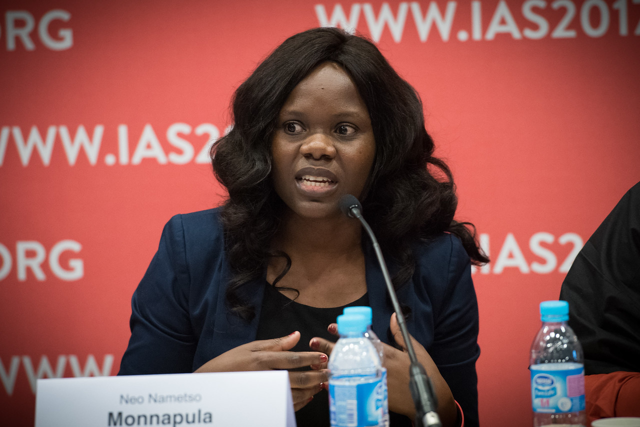 9th IAS Conference on HIV Science (IAS 2017) Paris, France. Copyright: Marcus Rose/IAS  Photo shows: Official IAS Press Conference: Combating Stigma for Key Populations Experts analyze new strategies to reach key populations and vulnerable groups, including the role of PEPFAR, engaging the private sector and listening to partners on the ground.   Speakers: Neo Nametso