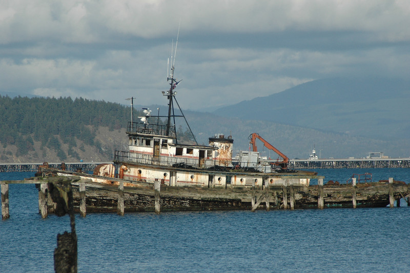 Tug Enchantress...built in the mid 1940's on the East Coast for WWII... Abandoned in Anacortes in 2000 where she nows sits on the bottom with the tide running in-and-out of her everyday... :(<br /> <br /> UPDATE...removed & scrapped in 2009