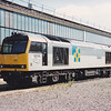 Trainload Construction 60006 'Great Gable' sits by the shed at March TMD on 29th July 1990