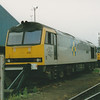 60019 'Wild Boar Fell' sits on the stops in Hither Green depot on 25th September 1993