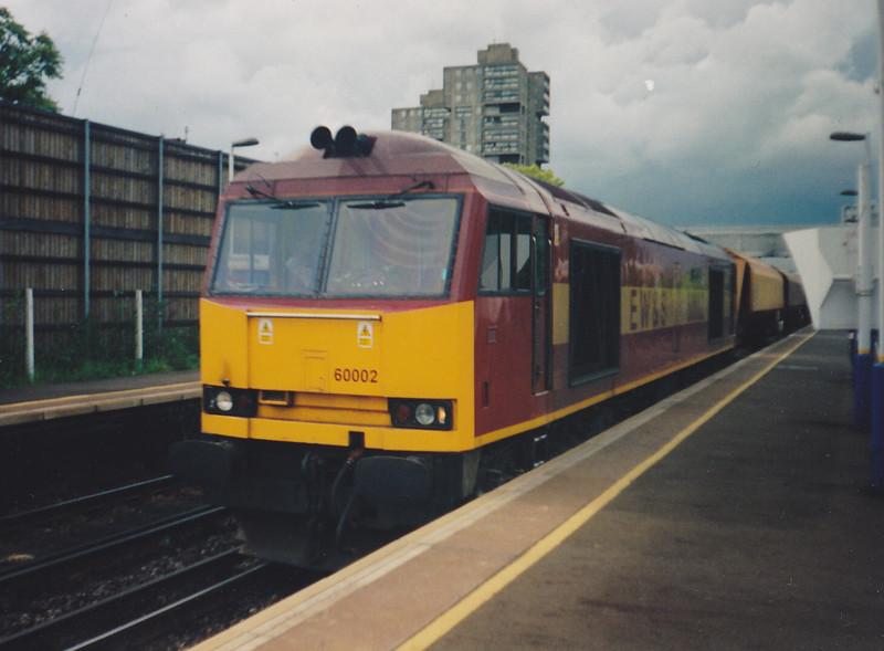 60002 'High Peak' heads through Wandsworth Road on 3rd June 1999