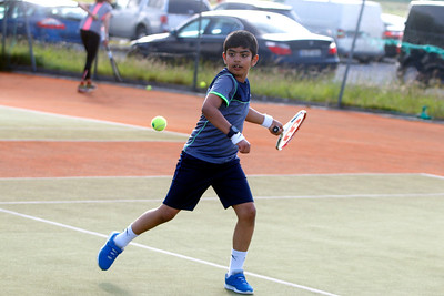 Wyatt Winston in action at Tullamore Tennis Club's open night on Monday - 17th June 2019     Picture. Niall O'Mara