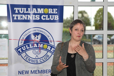 Marcella Corcoran Kennedy TD at Tullamore Tennis Club's open night on Monday - 17th June 2019     Picture. Niall O'Mara