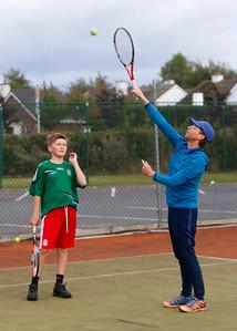 Tullamore Tennis Club's new coach Bryan Stewart