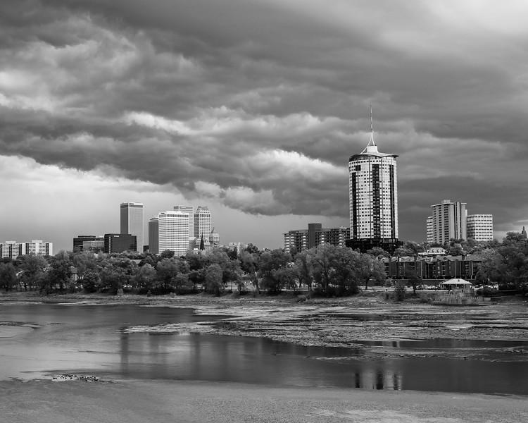 Arkansas River and the Tulsa skyline