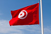 A Tunisian national flag at the Tunisian Port of La Goulette.
