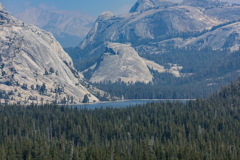 Tenaya Lake viewed from Olmsted Point with Nikon 180mmf/8.0 ... on a hazy day, caused by fires in Yosemite Valley.