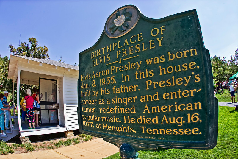 The Elvis Presley birthplace and museum attracts several thousand visitors each year.