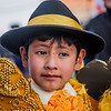 Young boy dressed up for the festival of the Virgin of Guadalupe in Tupiza, Bolivia