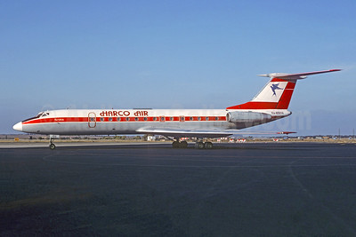 Harco Air Services Tupolev Tu-134A-3 RA-65614 (msn 4352207) (Interflug colors) PRG (Christian Volpati Collection). Image: 952219.