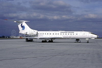Georgian Airlines Tupolev Tu-134A-3 4L-65750 (msn 61042) PRG (Christian Volpati Collection). Image: 952797.