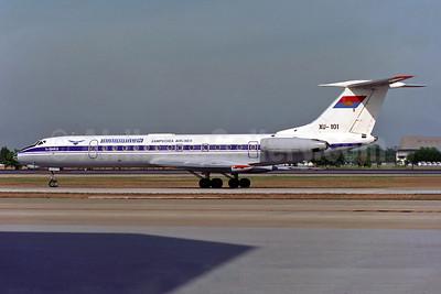 Kampuchea Airlines (1st) Tupolev Tu-134A-3 XU-101 (msn 49890) DMK (Rob Finlayson). Image: 926693.