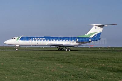 LatCharter Airlines Tupolev Tu-134B-3 YL-LBF (msn 63295) MSE (SPA). Image: 941128.