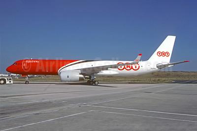 TNT Global Express (Cairo Aviation) Tupolev Tu-204-120C SU-EAJ (msn 1450743764029) CDG (Christian Volpati Collection). Image: 951772.