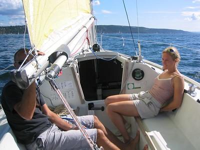 Seiltur med Ole's båt