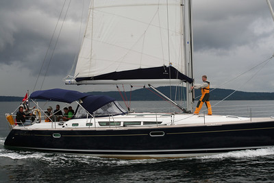 Båt #2 - Øyvind, Thomas, Kent, Kristina, Jo, Rune og Odin