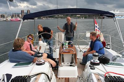 Båt #1 er klar: Jacob, Gunnar, Erik, Lars, Terje & Bjørnar