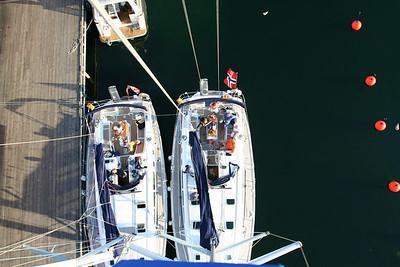 Utsikt fra toppen av masta