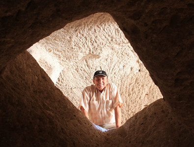 Climbing through holes like a sprightly teenager