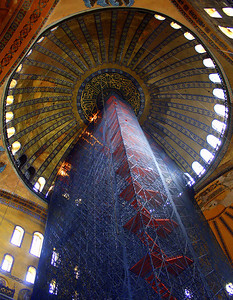 Restorations at Hagia Sophia