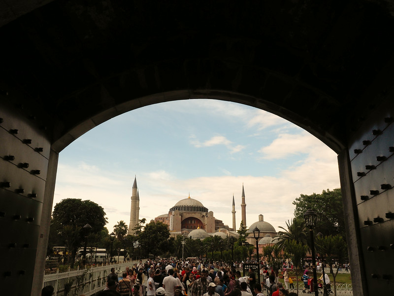 View of Hagia Sophia from the Blue Mosque, Istanbul