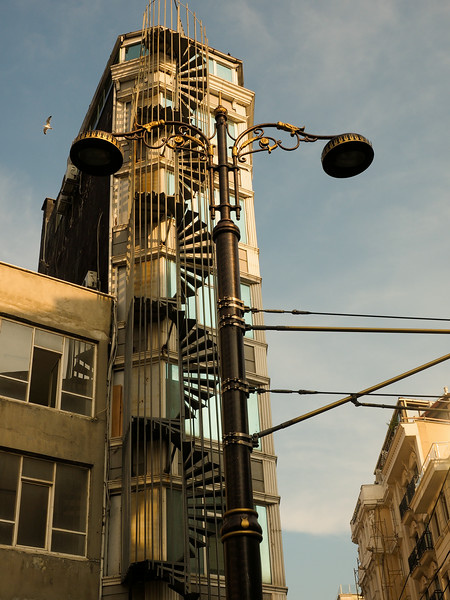Typical fire escape, Istanbul