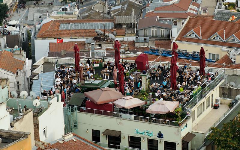 Rooftop restaurant, Istanbul