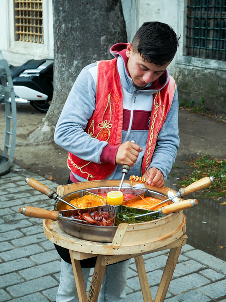 Street candy seller, Istanbul