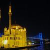 Ortakoy Mosque, Ortakoy, Istanbul with Bosphorous bridge
