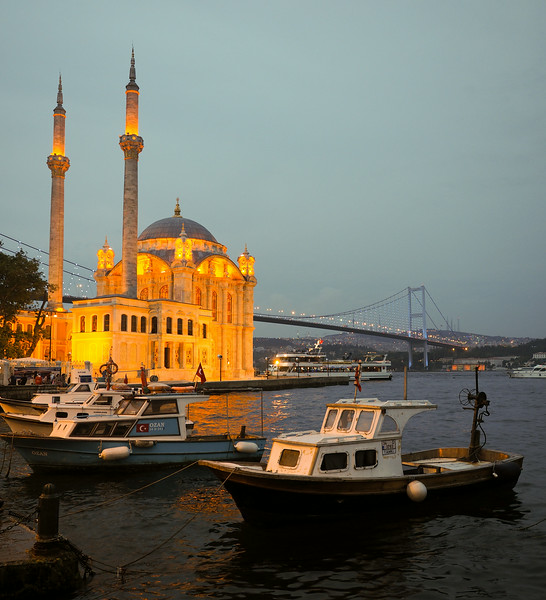 Ortakoy Mosque with Bosphorous bridge in background, Istanbul