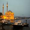 Ortakoy Mosque with Bosphorous bridge in background, Istanbul