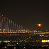Moonrise over the Bosphorus Bridge, Istanbul