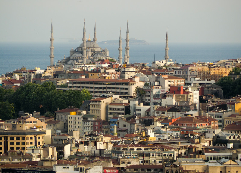 Cityscape with Princess Islands in background, Istanbul
