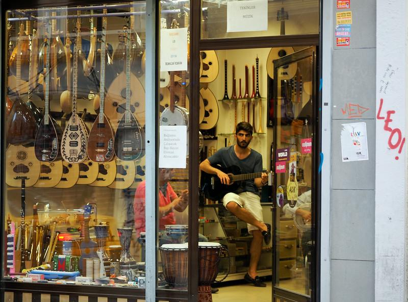Music shop near Galata Tower, Istanbul