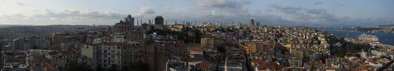 Panoramic view from the Galata Tower, Istanbul