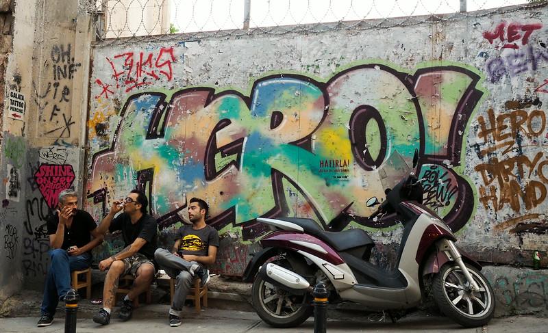Street scene near Istiklal Street
