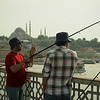 Fisherman on Galata Bridge, Istanbul