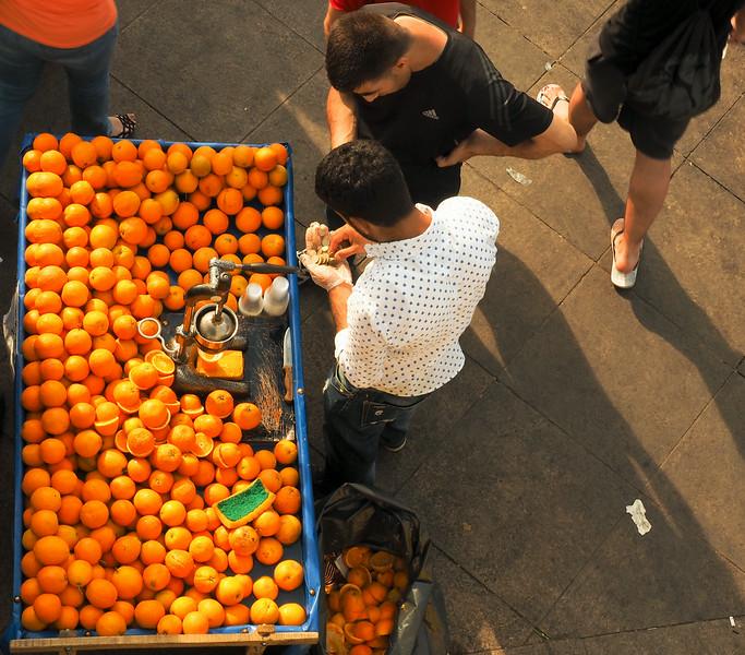Portakal (orange juice) vendor, Sultanahmet, Istanbul