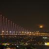 Moonrise over the Bosphorous Bridge, Istanbul