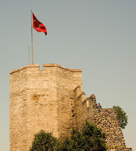 Roman wall near Chora church